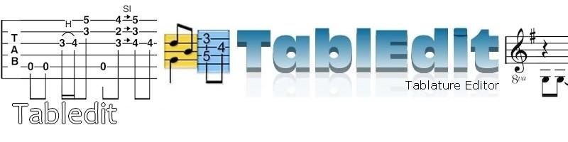 Tabledit, logiciel pour tablatures